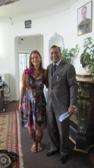 Ekaterina Abramova and Ambassador of India, Mr. Gupta