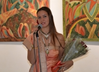 Ekaterina Abramova at the opening of personal exhibition in the RCSC in New Delhi